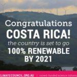Il Costa Rica dice addio ai combustibili fossili